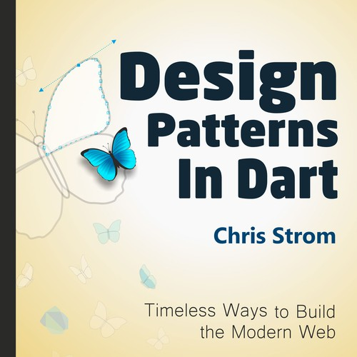 "Tech ebook cover for ""Design Patterns in Dart"""