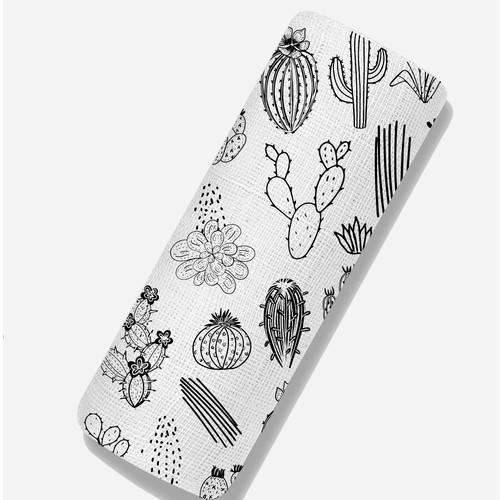 Cactus theme baby blanket
