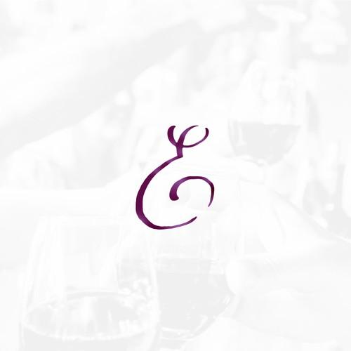 Wine Stain Logo Concept