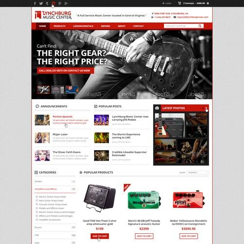 E-Commerce Website for Musicians