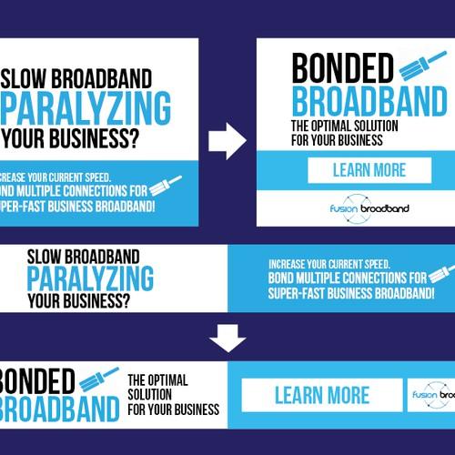 Winning Banner Ad for Fusion Broadband