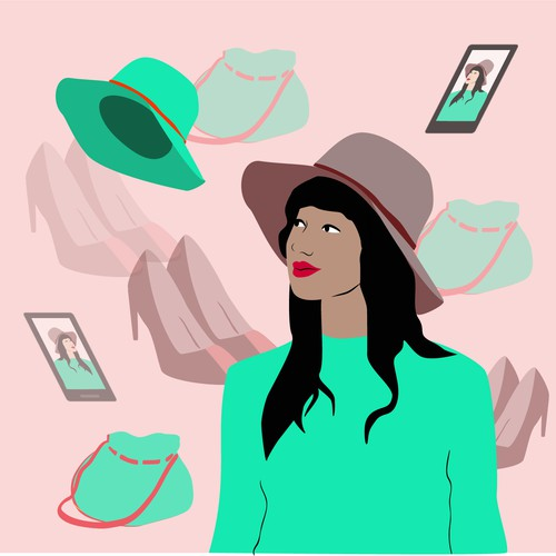 Illustrated image for an influencer website.