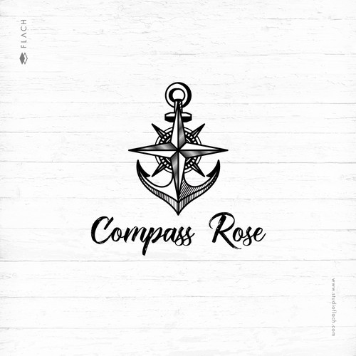 Sophisticated and vintage logo for a maritime rental and charter company.