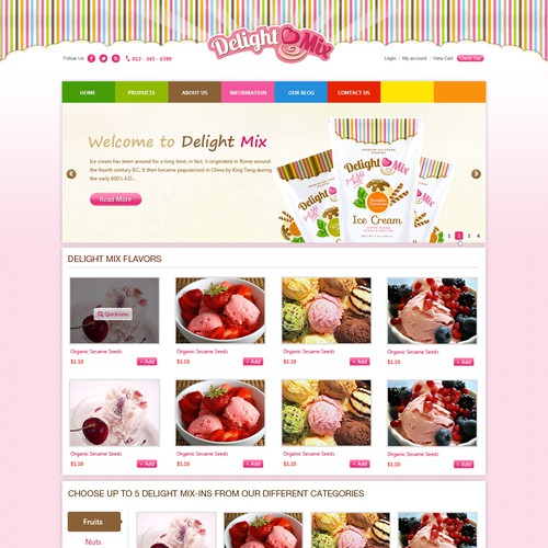 DelightMix needs a new website design
