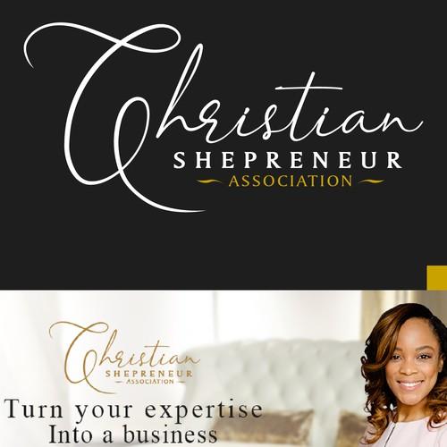 Luxury & Elegant logo for Chirstian Shepreneur Association
