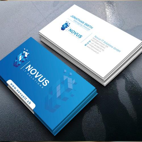A unique design Novus Visitenkarten