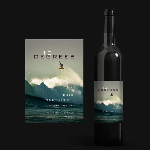 Australian Wine Label - Ten Degrees