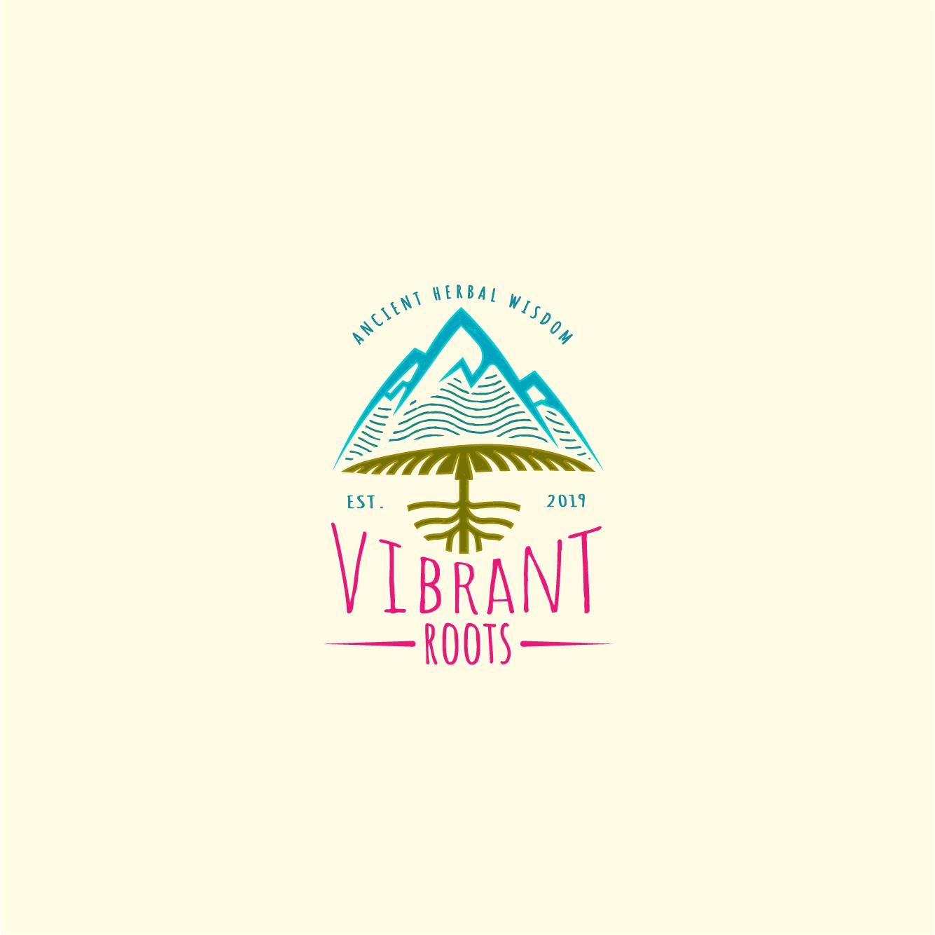 ORGANIC flowy design for VIBRANT ROOTS (Mushroom products, Jun, Chocolate, Tea, & Elixirs)