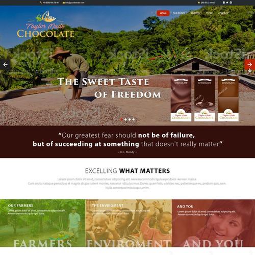 Webdesign Taylor Made Chocolate