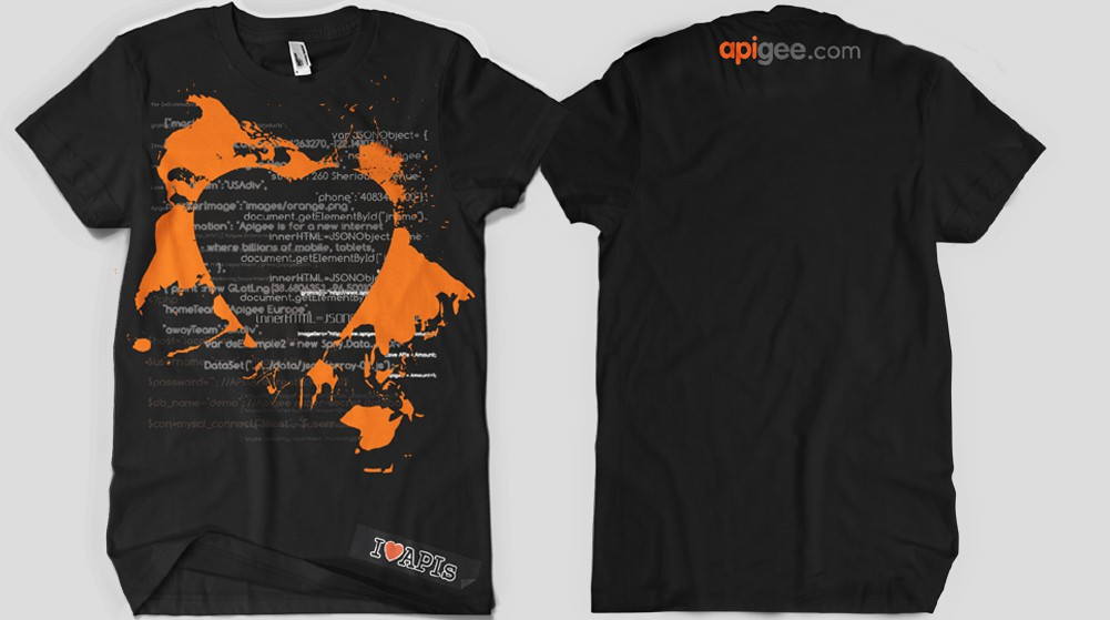 t-shirt design for Apigee