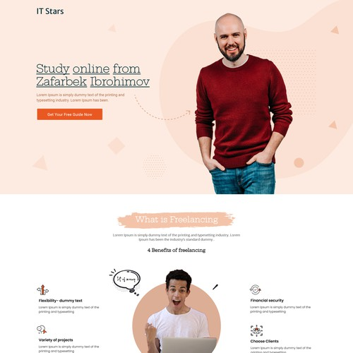 Redesign of a short Landingpage to match customers CI