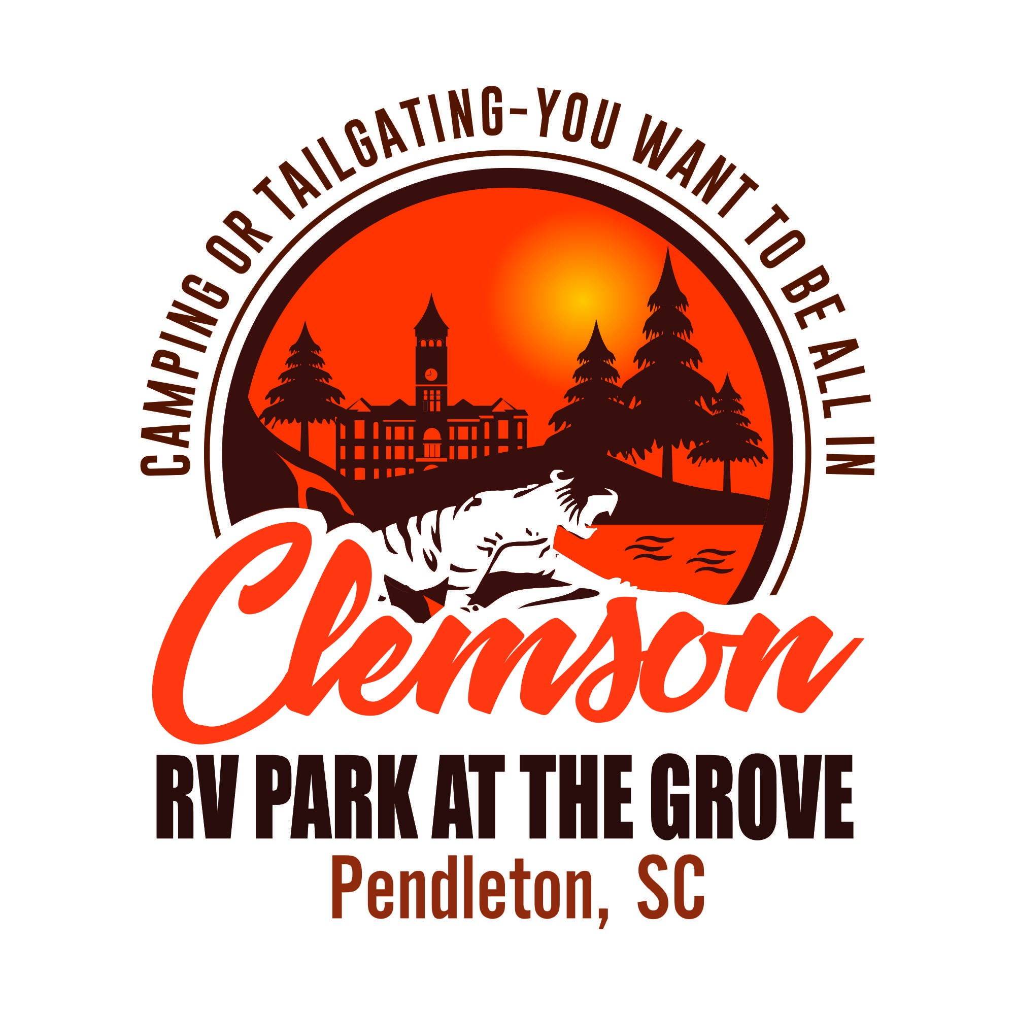 High end RV Park/Campground with emphasis on Tailgating Clemson Football