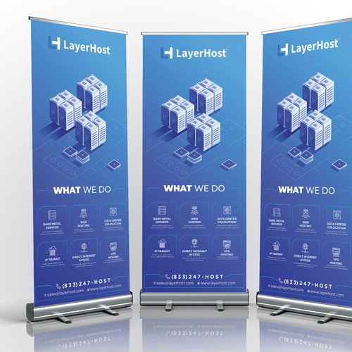 Roll Up Banner Design LayerHost