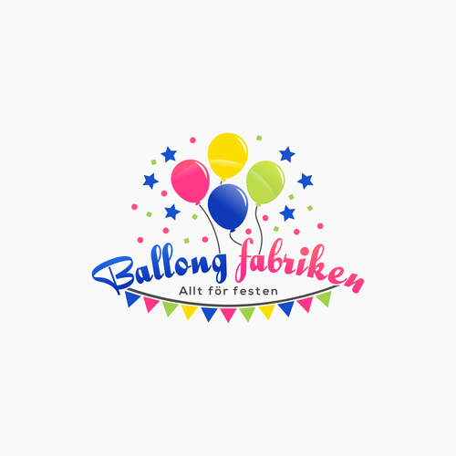 Create a playful logo for a party store