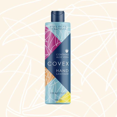 Label concept for Covex Hand Sanitiser