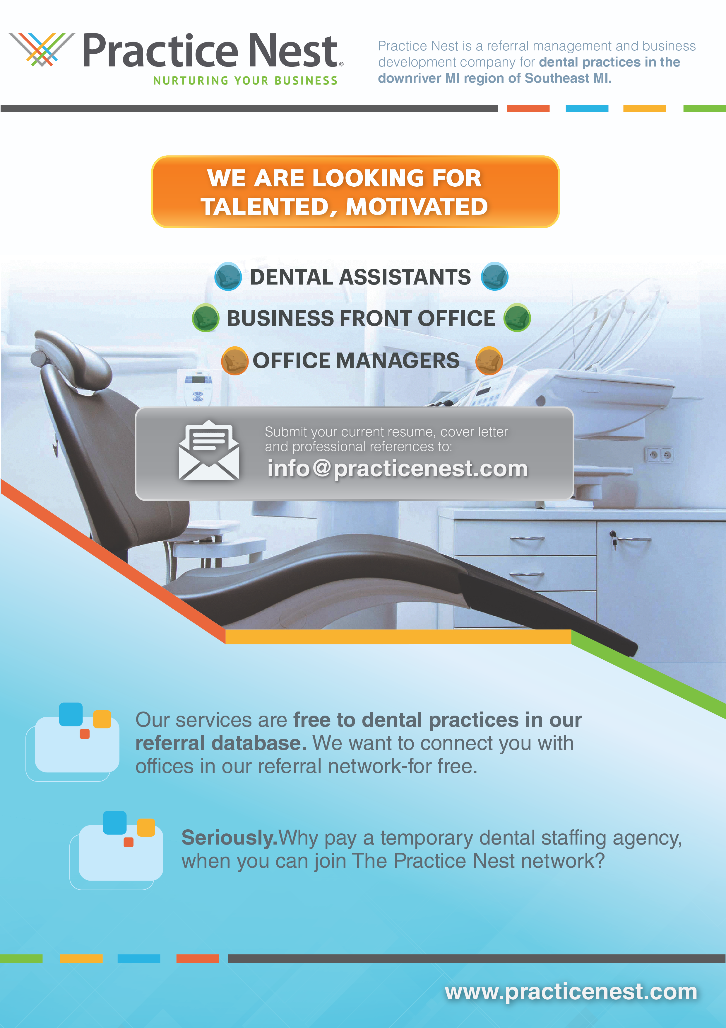 A Fresh Dental Business Company, Looking for Hip Ad to Attract Talent