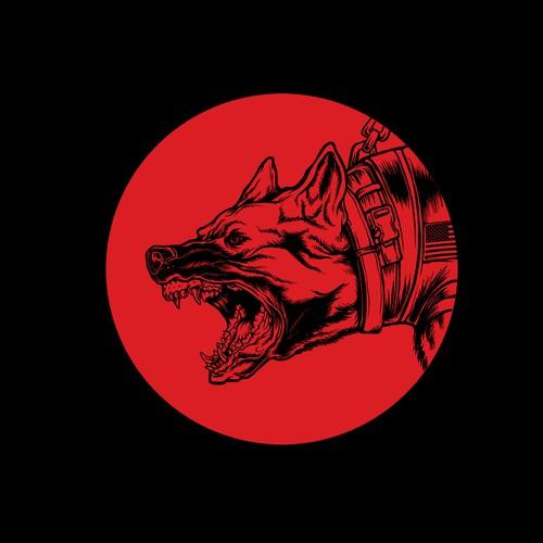 Military dog twist on the old Thundercats logo