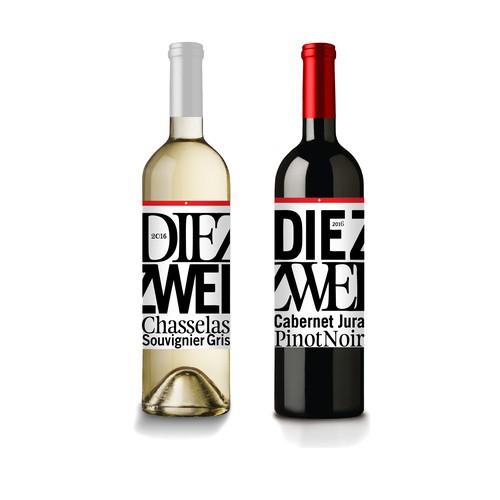 Die Zwei wine label