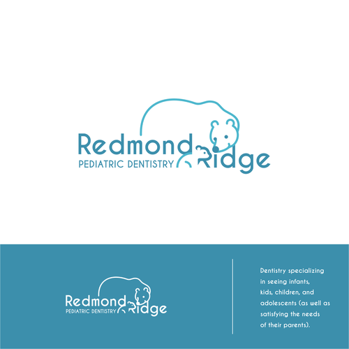 Logo for a pediatric dentistry in polar bear theme