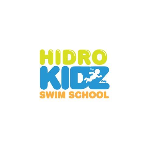 Logo for a swim school for kids