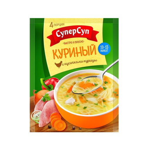 Redesign of the packaging, Brand - the market leader of cooking soups in Russia