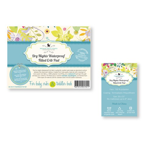 Create a Package Label for Premium Baby Product sold online!
