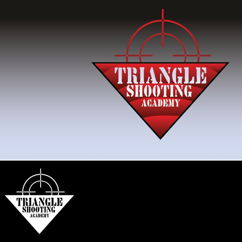 Create the next logo for Triangle Shooting Academy