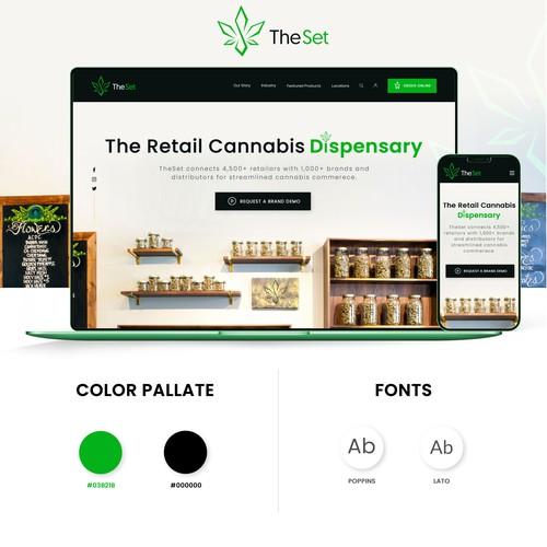 The Set dispensary Website Design