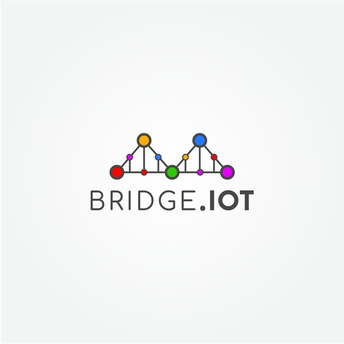 Bridge. IOT Logo Concept