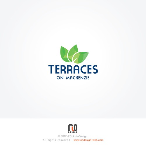 Create an eco friendly logo for a townhouse development