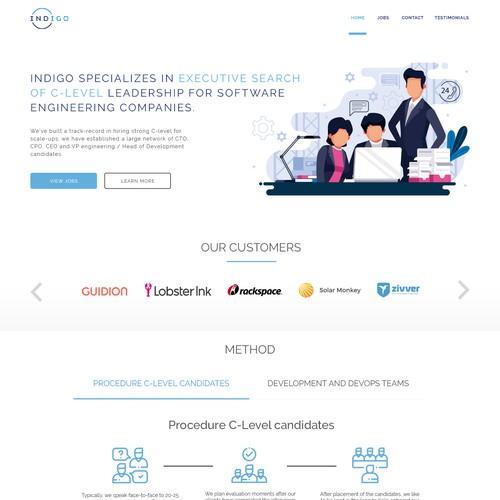 Web page Design For a Tech website.