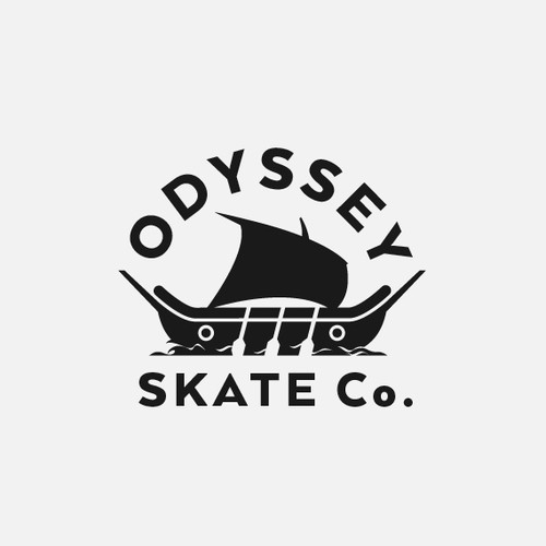 clever logo for skate greek company  called odyssy