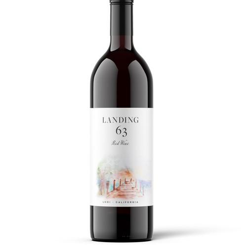 Landing 63 Wine Label