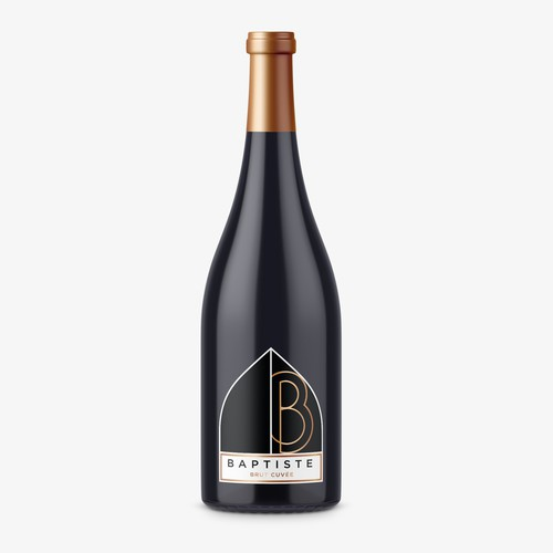 Clean, Modern and Sophisticated Label Design - Sparkling Wine