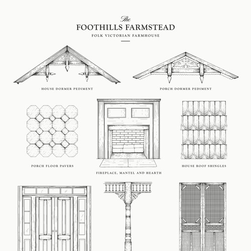 Elements for folk victorian farmhouse