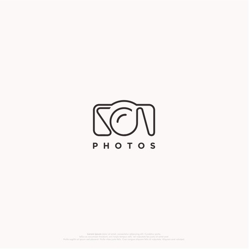 SCN simple photography logo.
