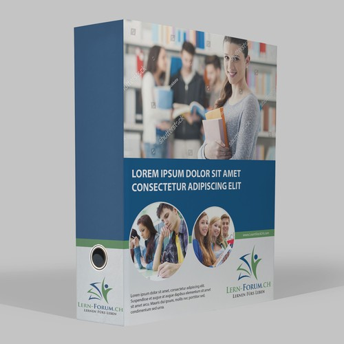Binder Cover for Well known Education Company Lern-Forum.CH