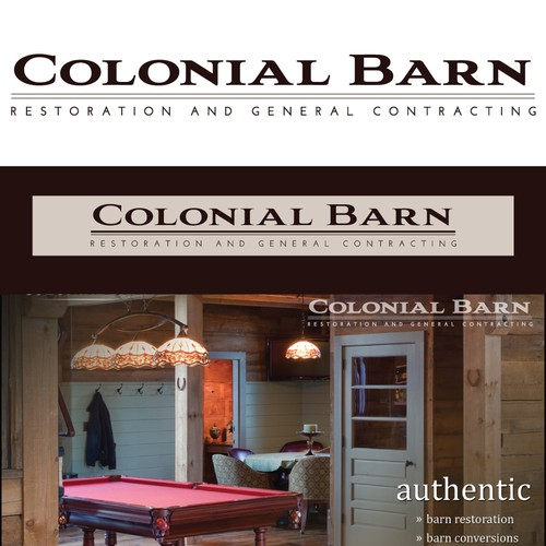 New logo wanted for Colonial Barn Restoration, Inc.