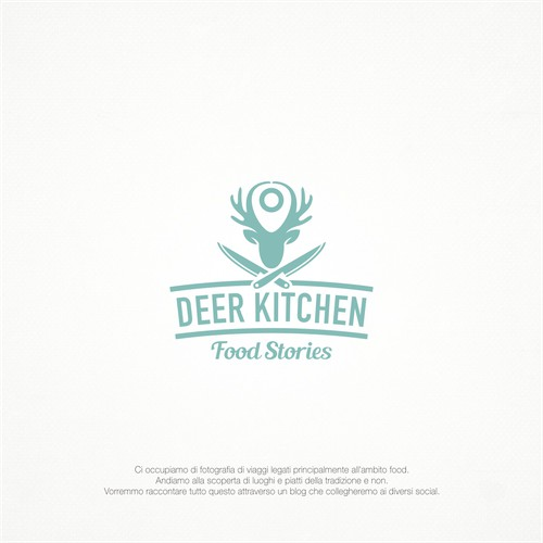 Deer kitchen logo design