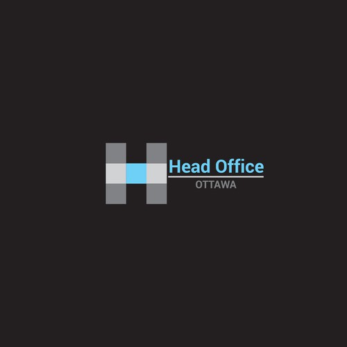Modern logo concept for office building.