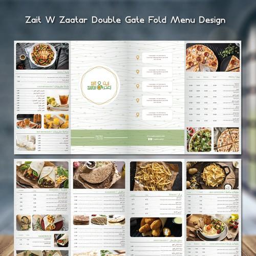 Minimalist restaurant menu design