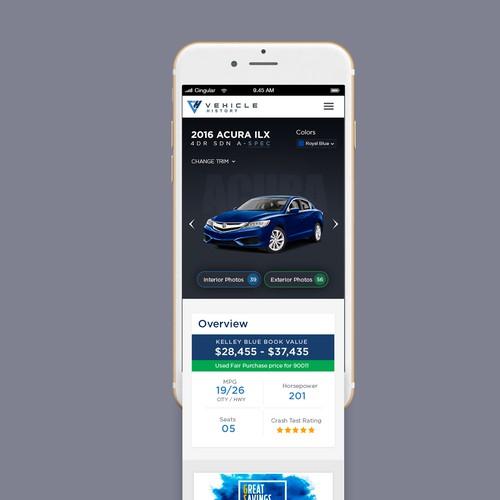 car website mobile view