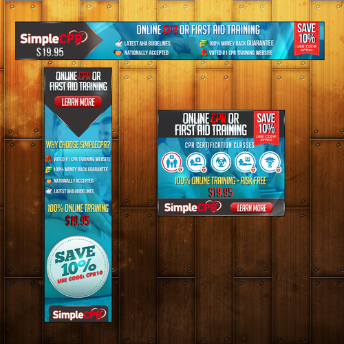 New Display Banner Ads for SimpleCPR.com!