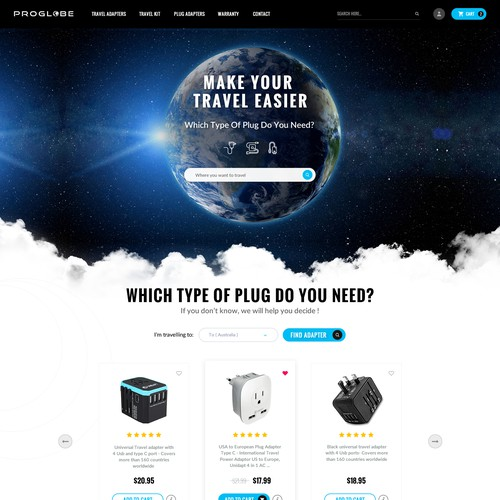 compelling new design to our travel product website