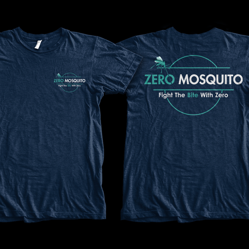 Attached logo make an amazing shirt! Zero Mosquito