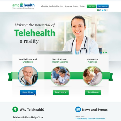 Create the next website design for AMC Health