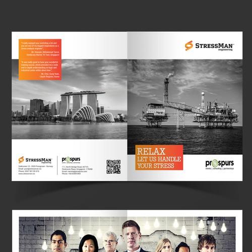 Modern Brochure Design for StressMan Eng
