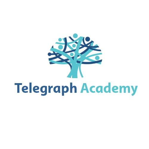 Contest logo winner for Telegraph Academy