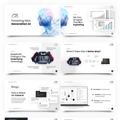 AI software company presentation deck