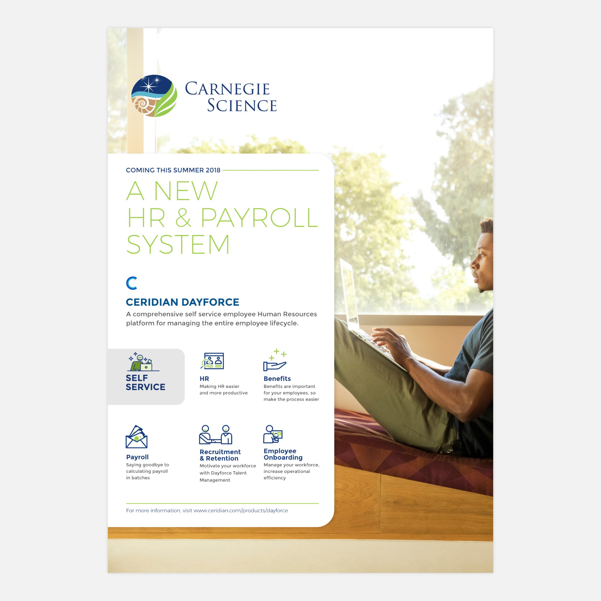 New HR & Payroll system announcement for prestigious science institution